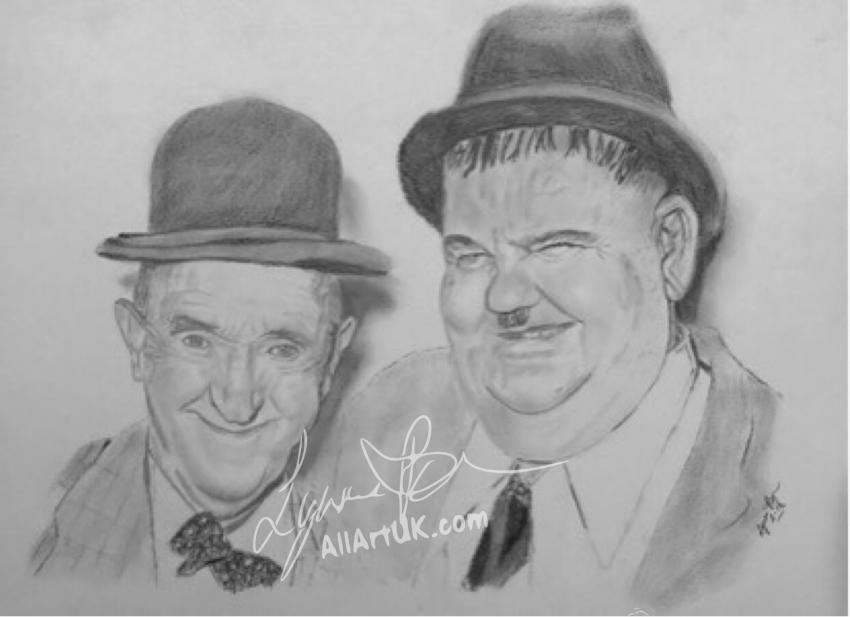 Stan Laurel, Oliver Hardy by AllArtUK